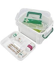Hokky Skrzynka pierwszej pomocy, pudełko do przechowywania leków, plastikowa skrzynka medyczna