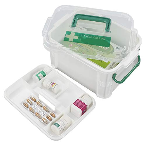 Hokky Kleine EHBO-Opbergdoos, Plastic Afsluitbare Medische Kit, Eerste Hulp Doos