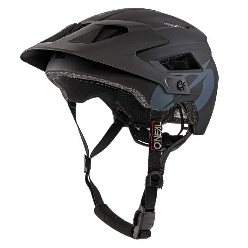 O'NEAL | Mountainbike-Helm | Enduro All-Mountain | Belüftungsöffnungen zur Kühlung, Polster waschbar, Sicherheitsnorm EN1078 | Helmet Defender Solid | Erwachsene | Schwarz | Größe XS/M