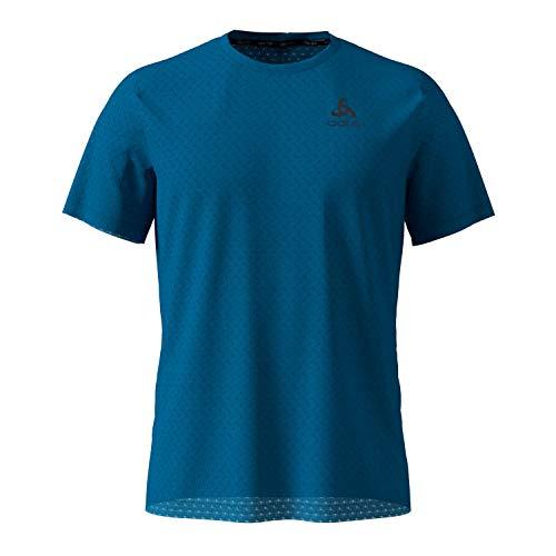 Odlo Millennium Linenco T-Shirt à Manches Courtes pour Homme Bleu Mykonos Taille XL