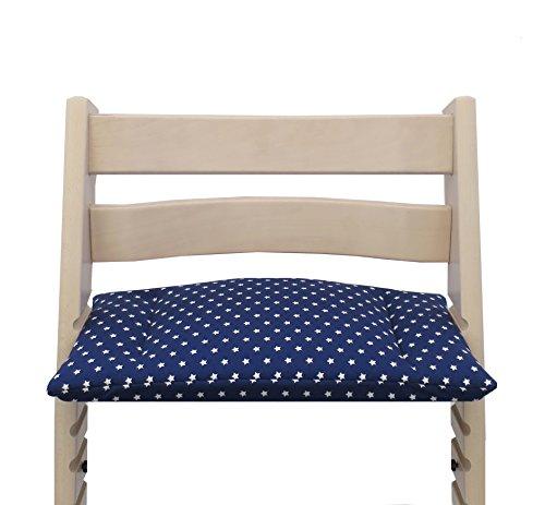 Blausberg Baby *16 FARBEN* Sitzkissen (kleines Brett) für Stokke Tripp Trapp Hochstuhl (Blau Stern) - alle Materialien OEKO-TEX® Standard 100...