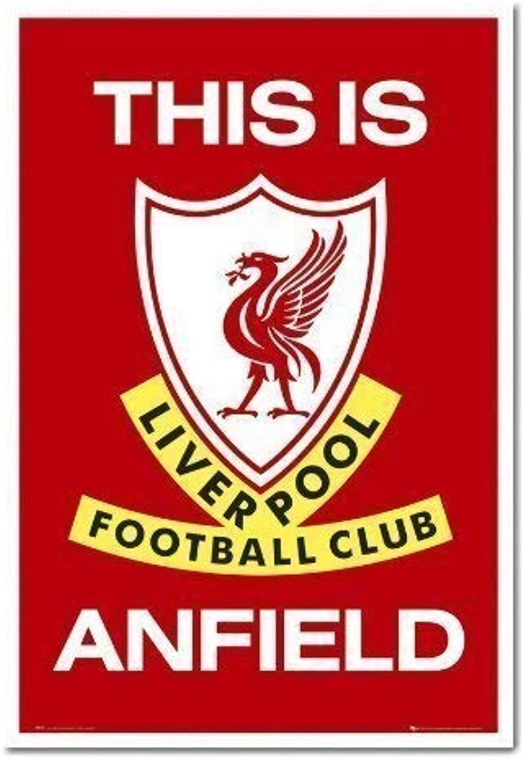 Iposters Liverpool Fc Poster This is Anfield White Framed  96.5 X 66 cms (Approx 38 X 26 inches)