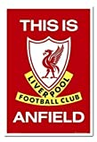 Poster Liverpool FC This is Anfield weiß Rahmen, 96,5 x