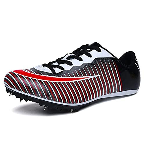 Tyfiner Zapatos De La Pista Spikes 8 Zapatas de Pista con Clavos Zapatillas de Running con Absorción de Impactos y Transpirables Zapatos con Clavos para Pista y Campo,003,41EU