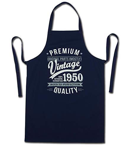 My Generation Gifts 1950 Vintage Year - Aged To Perfection - 70 Cumpleaños Regalos / 30 años Delantal para Hombre Azul Marino