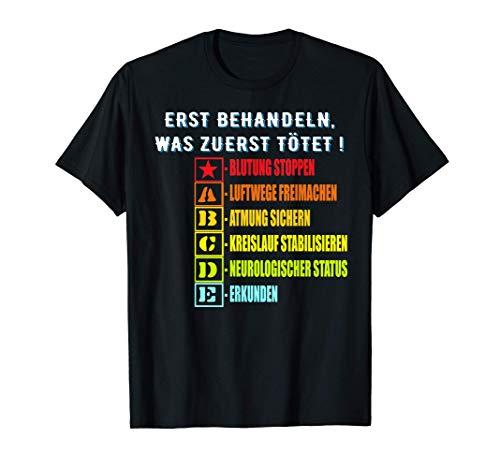 112 ABCDE Schema, RTW Notfallsanitäter, Rettungsdienst 112 T-Shirt