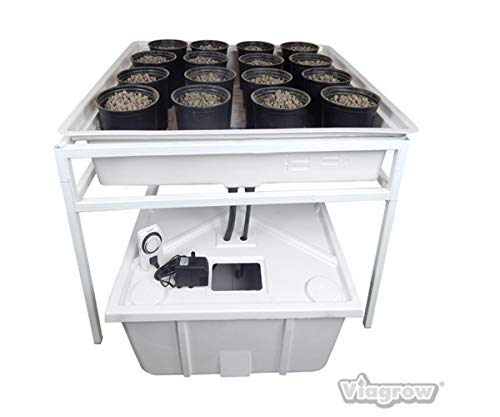 "Viagrow Complete Ebb & Flow Hydroponics System (O.D. 41.3"" length x 41.3"" wide x 25"" high)"
