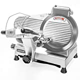 Barton Commercial Stainless Steel Semi-Auto Meat Slicer Cheese Food Electric Deli Slicer Veggies...