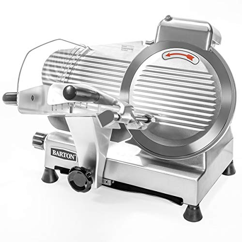 Barton Commercial Stainless Steel Semi-Auto Meat Slicer Cheese Food Electric Deli Slicer Veggies Cutter 10' inch Blade