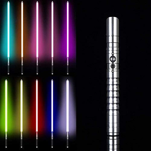 zzj Espada láser de efectos de sonido iluminados sable F