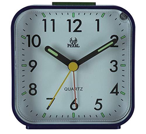 RENQIAN Travel Alarm Klok Analoog Alarm Stille Niet Tikken Opstijgende piep Geluiden Stille Geen Tikken Verlicht Op Vraag Snooze Zachte Wekker