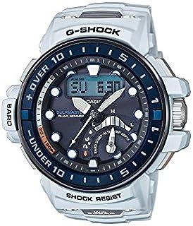 كاسيو ساعة رياضية رجال انالوج بعقارب بلاستيك مطاطي - GWN-Q1000-7AER