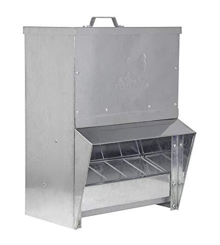 Chicken Feeder Rainproof Outdoor Metallic 20 Liter...