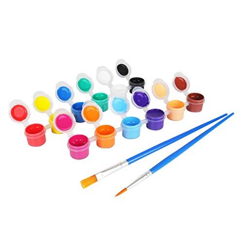 JumpXL 12 Leuchtende Farben Waschbar Gouache Farbe Handbemalte Fingerfarbe DIY Kunst Graffiti-Pigment-Satz Für Kleinkinder Kinder Anfänger School Supplies-Kunst-Werkzeuge