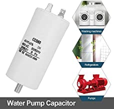 450V AC Capacitor,50/60Hz 40UF Pump Capacitor Water Pump Capacitor with High Insulation Resistance for Washing Machines, Pumps, Refrigerators