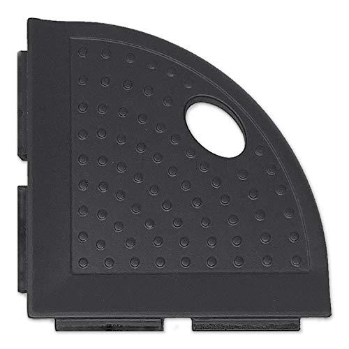 5 inch Bathroom Organizer Corner Shower Caddy - Graphite Black Shower Foot Rest Metro Lugged for New Construction