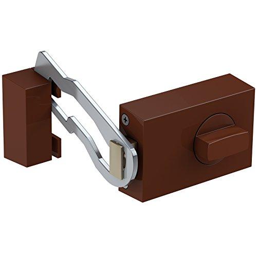 Basi® Kastenzusatzschloss mit Sperrbügel KS500 Tür-Zusatzschloss verschiedene Farben 1306-0204, Braun