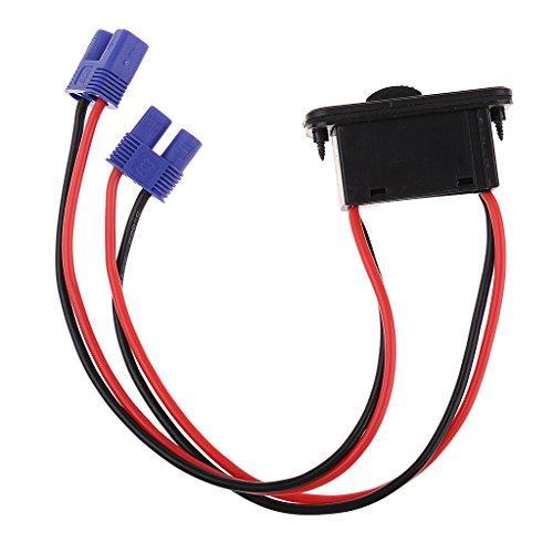 Hellery RC Car Truck EC3 Cable de Alambre de Enchufe con Interruptor de Encendido Y Apagado para Batería Lipo