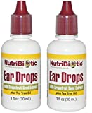 NutriBiotic Ear Drops with Grapefruit Seed Extract and Tea Tree Oil (Pack of 2), 1 Oz Each