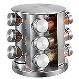 Porta spezie da cucina con barattoli per spezie, girevole