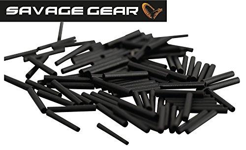 Savage Gear Wire Crimps -100 Klemmhülsen für Stahlvorfach, Crimps für Stahlvorfächer zum Hechtangeln, Zanderangeln & Barschangeln, Raubfischvorfach Bauen, Durchmesser:1.0mm