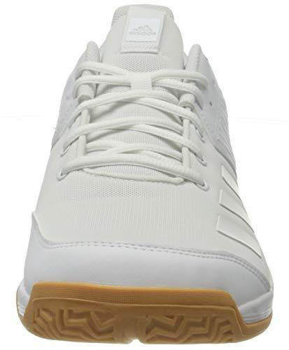 adidas Ligra 6, Zapatillas de vóleibol Mujer, Blanc Blanc Gomme, 40 2/3 EU