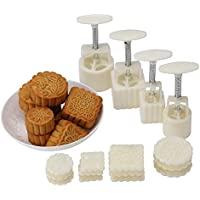 12-Piece Lost Ocean Mid-Autumn Festival Hand-Pressure Moon Cake Mould with Mode Pattern (For 4 Sets)