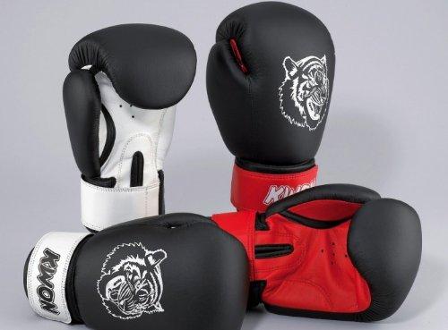 Kwon Kinder Tiger Boxhandschuhe Gr. 10 oz schwarz/rot