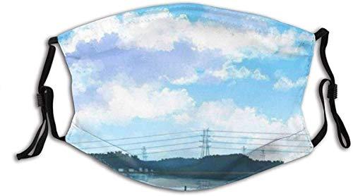 YTYTY Lake View Boat Under Blue Sky y White Clouds - Leggings para cuello con turbante para adultos, para senderismo, ciclismo, escalada en roca