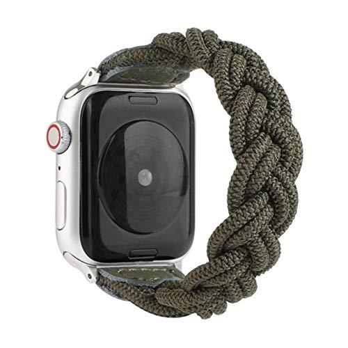 Correa de nailon trenzado de tela para Apple Watch 40MM 44MM 38MM 42MM Hombre Mujer Pulsera ajustable para iWatch 6 5 4 3 2-8, para 42MM 44MM, 160mm