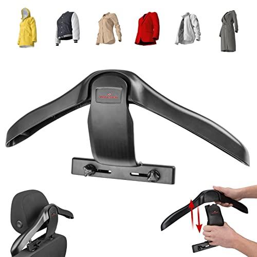 WALSER 30330 Appendiabiti per auto, appendiabiti per auto, appendiabiti da viaggio, poggiatesta Appendiabiti per auto, nero