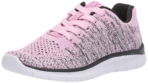 Amazon Essentials Girls' Margriet Sneaker, Pink, 3 M US Big Kid