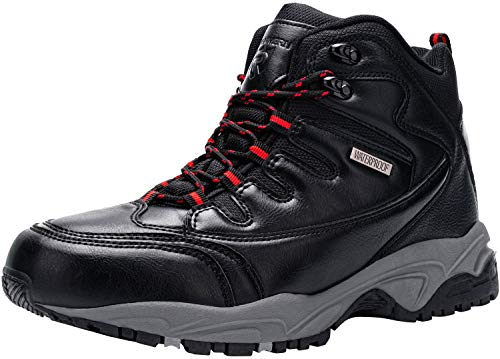 Kefuwu Zapatillas de Trekking para Hombres Zapatillas de Senderismo Botas de Montaña Antideslizantes AL Aire Libre Zapatillas de Camping Zapatillas de Deporte Senderismo Esquiar Caminando(Negro 42)