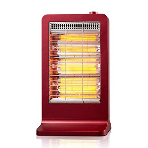 CMmin Mini-verwarming, elektrische verwarming, draagbare keramiek, ruimteverwarming voor huis en kantoor, met instelbare thermostaat, oververhittingsbeveiliging (rood)