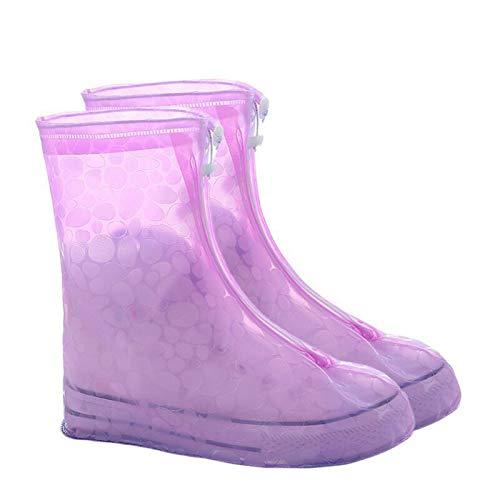 HUAIXIAOHAI 1 par de zapatos de protector impermeable para impermeables Cubierta de bota Unisex Cremallera Zapato de lluvia Cubiertas de zapatos antideslizantes Cajas de zapatos de agua Cubiertas de z