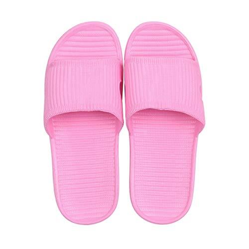 Unisex Mujer Hombre Zapatos Baño Sandalias Planas Antideslizantes Zapatillas de baño para el hogar de Verano Zapatillas de Playa Casuales para Interiores (Color: Azul) (tamaño: L)