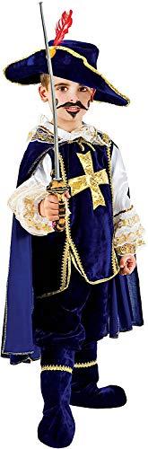 VENEZIANO Costume Carnevale da Moschettiere in Velluto Baby Vestito per Bambino Ragazzo 1-6 Anni Travestimento Halloween Cosplay Festa Party 1047 6 Anni