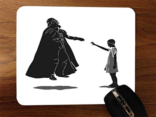 Funny Fan Made Eleven VS Vader Art Desktop Office Silicone Mouse Pad by MWCustoms