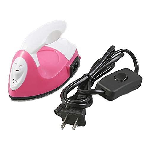 Mini plancha de vapor hierro eléctrico con cable portátil rápido pre-calor fácil de llevar y usar máquina de prensa de calor para viajar..