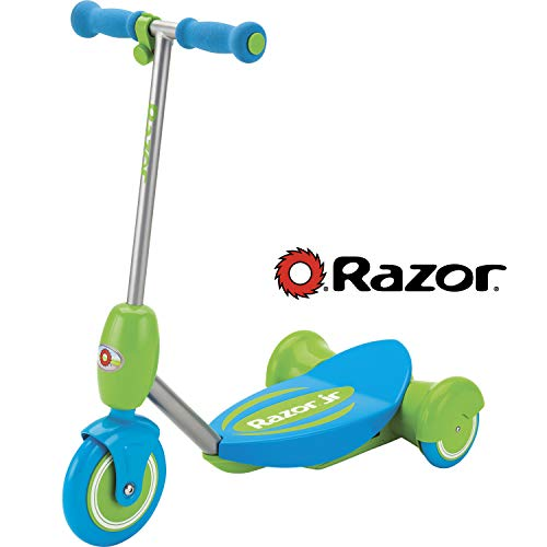 Razor Jr. Lil E Kids Electric Scooter Green/ Blue- Ages 3+