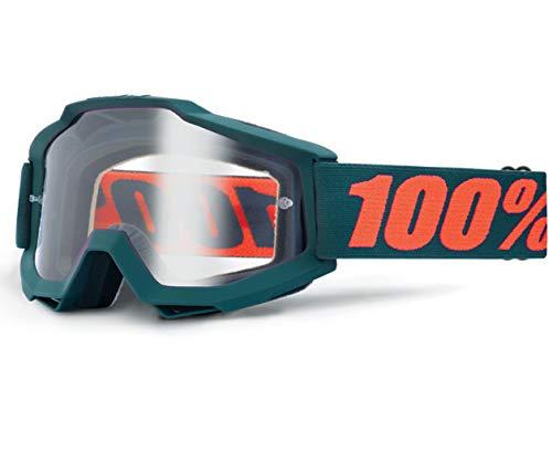 100% Accuri OTG (portatori di occhiali), Gunmetal-schermo chiaro, maschera da MTB, unisex, adulto, nero, taglia
