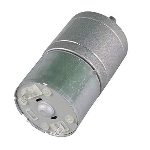 Controlador de Motor Motor DC 6V Motor DC eléctrico de 12 voltios con Caja de Engranajes de Metal, motorreductor de 12V, fácil de Instalar (Color: Plata, Velocidad (RPM): 12v 220rpm)