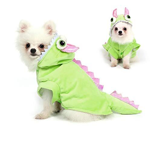 Filhome Dog Dragon Costume Pet Halloween Christmas Cosplay Dinosaur Costumes Puppy Cat Winter Coat...
