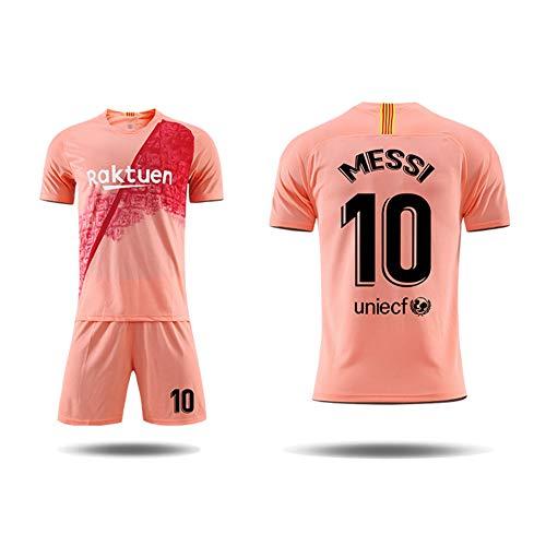 LCHENX-Club Barcelona 10# Lionel Messi Fans Fußballtrikots Gesetzt für Erwachsene Jugendmänner,Rosa,6Years