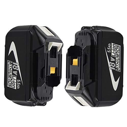 Venghts 2 Piezas BL1860B Reemplazo para Makita BL1860B 18V 5.5Ah Batería LED Calibrador 18 Voltios LXT-400 Herramientas eléctricas inalámbricas