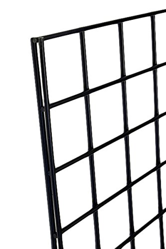 KC Store Fixtures A04202 Gridwall Panel, 2' W x 4' H, Black (Pack of 4)