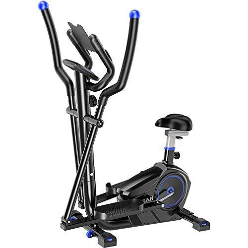 Bicicleta estática Máquina elíptica Entrenador cruzado 2 en 1 Bicicleta estática Cardio Fitness Gimnasio en casa Para el hogar Cardio Fitness Workout Gym (Color: Negro, Tamaño: Tamaño libre) Interio