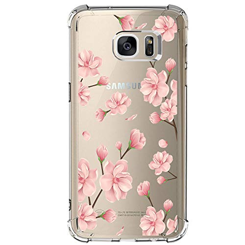 Samsung Galaxy S7 Case with flowers, IESSVI Girl Floral Pattern Clear TPU Soft Slim Phone case for Samsung Galaxy S7 (8)