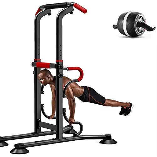 KHXJYC Multifunktionaler Fitnessturm, Hochziehbare Indoor-FitnessgeräTe, Einstellbarer Single Parallel Parallel Bars Fitness Frame FüR Den Haushalt