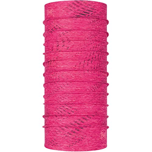 Buff Coolnet UV+ Reflective Neckwear ~ R-Flash pink heather